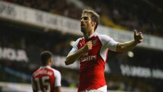 Flamini celebra un gol con el Arsenal. (Getty)