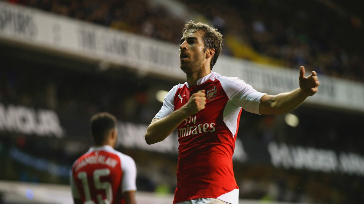 Flamini celebra un gol con el Arsenal. (Getty)