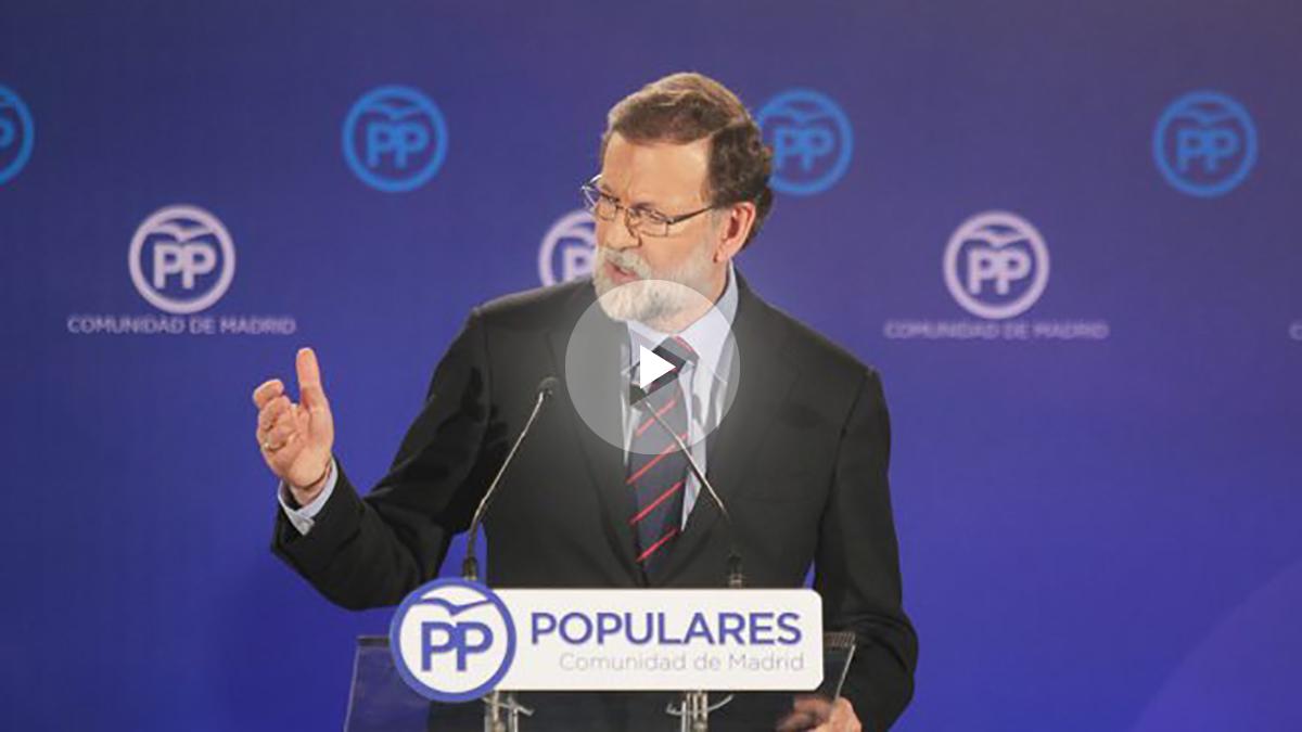 Rajoy en la cena de Navidad del PP en Las Rozas, Madrid. (FOTO: Francisco Toledo)