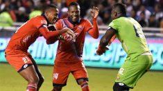 Rinson López celebra un gol con El Nacional. (Futbolete.com)