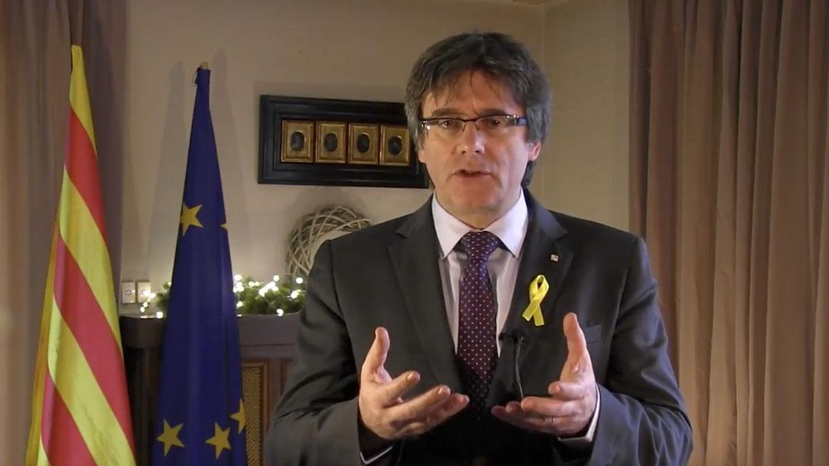 Carles Puigdemont durante su discurso de Año Nuevo
