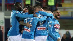 Los jugadores del Nápoles celebran un gol de Hamsik. (Getty)