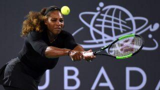 Serena Williams regresó a las pistas en Abu Dabi. (Getty)