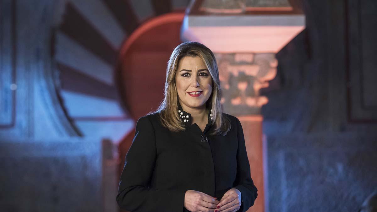 Susana Díaz durante su discurso de fin de año.