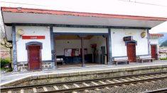 Apeadero de tren de Legazpi (Guipúzcoa), donde se produjo el suceso.