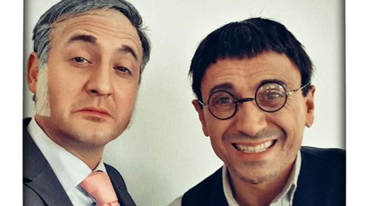 Max Marieges como Eduardo Inda y José Mota como Juan Carlos Monedero.
