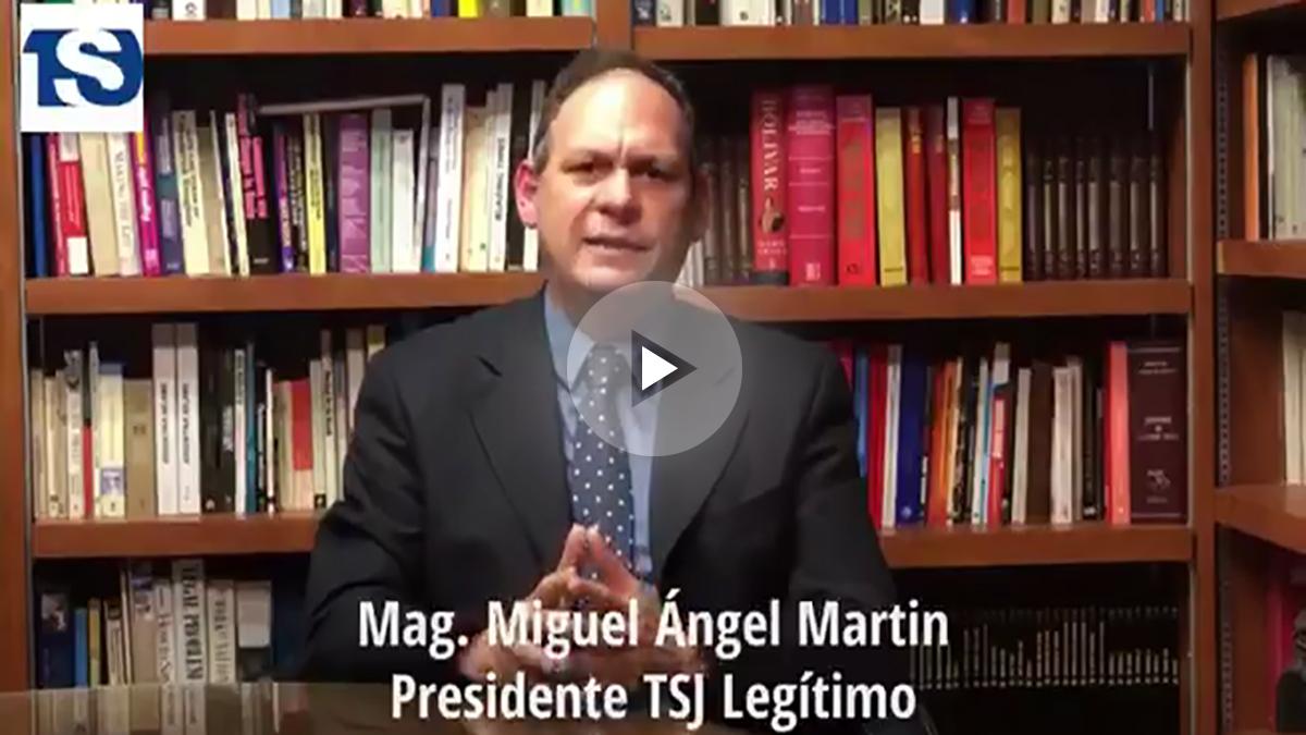 El presidente legítimo del Supremo venezolano, Miguel Ángel Martín.
