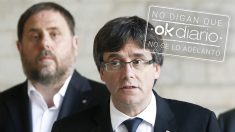 Carles Puigdemont y Oriol Junqueras. (Foto: EFE)