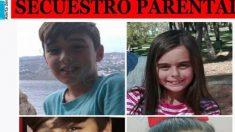 Imagen de los menores presuntamente secuestrados por su padre (Foto: Sosdesaparecidos.es)