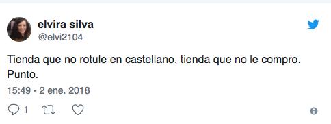 Tuits llamando al boicot contra Zara por no rotular en español