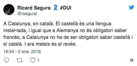 Tuits en contra de que haya carteles en español en las tiendas de Zara en Cataluña
