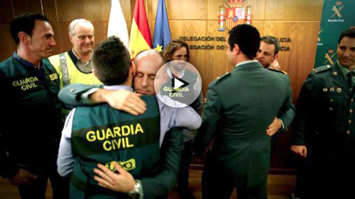 El responsable de la UCO y el jefe de Comandancia de la Guardia Civil en Galicia comparecieron hoy en rueda de prensa acompañados por el delegado del Gobierno en Galicia, para dar cuenta de los pormenores de la detención del asesino confeso de Diana Quer. Foto: EFE