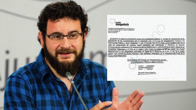 El Consejo de Buen Gobierno valenciano pide el cese del edil de Transparencia (Podemos) por ocultar gastos