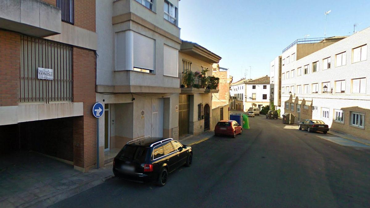 Calle de la Vendimia, en Requena (Valencia), donde se ha producido el suceso.