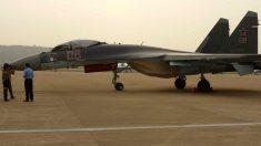 Modelo de caza ruso Su-35, uno de los aviones afectados por el ataque de radicales islamistas en Siria.