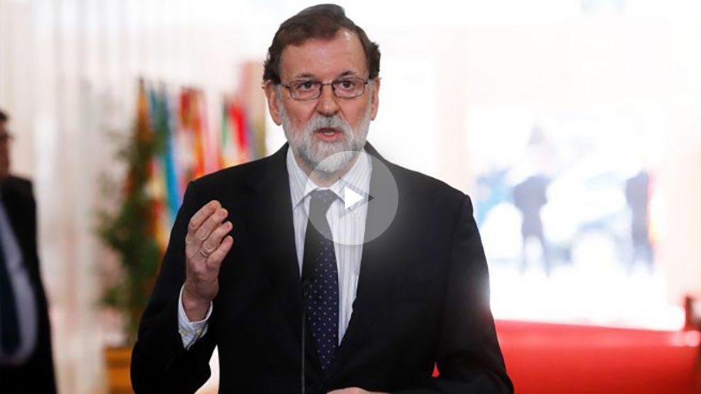 Mariano Rajoy en el homenaje a la Constitución en el Congreso. (Foto: EFE)