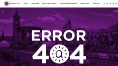 Web de Somos Alcalá donde ya no aparecen la lista electoral.