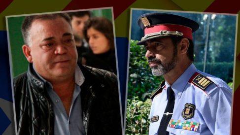 El narco Manuel Gutiérrez Carbajo y el mayor de los Mossos, Josep Lluís Trapero.