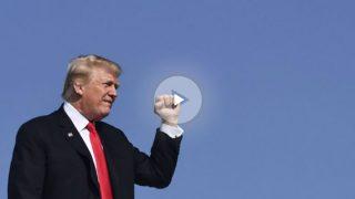 El Presidente de los Estados Unidos de América aterriza en Palm Beach con su avión privado, el Air Force One. Foto: AFP