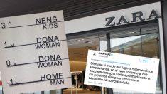 Zara rectifica en Twitter