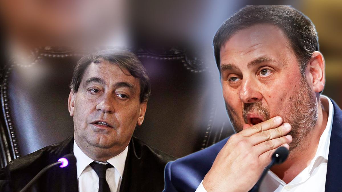 El fiscal general del Estado, Julián Sánchez Melgar, y Oriol Junqueras