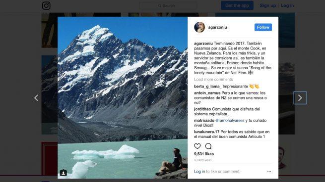 Garzón presume de su lujoso viaje a Nueva Zelanda después de decir que «vive peor que su padre»