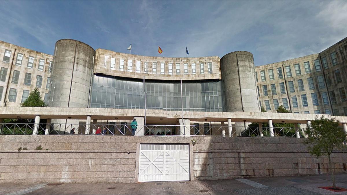 Fachada de la Audiencia Provincial de Santiago de Compostela.