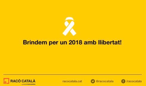 Felicitacón navideña de Racó Catalá, medio digital subvencionado por la Generalitat Valenciana