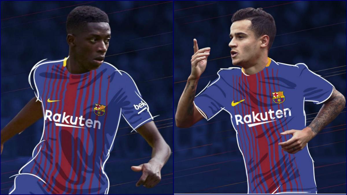 El Barça ha fichado a Dembélé y Coutinho para sustituir a Neymar. (Fotos: fcbarcelona.cat)