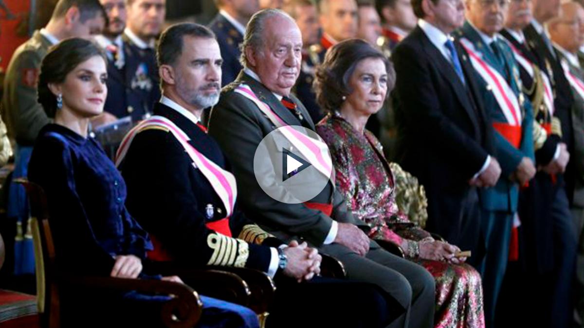 Los Reyes de España y los Reyes eméritos durante la Pascua Militar (Foto: Efe).