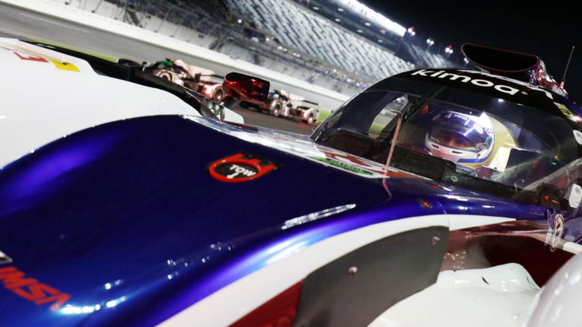 Fernando Alonso preparando las 24 horas de Daytona. (Foto: United Autosport)