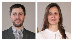 El ex conseller Comín y la ex consellera Serret.