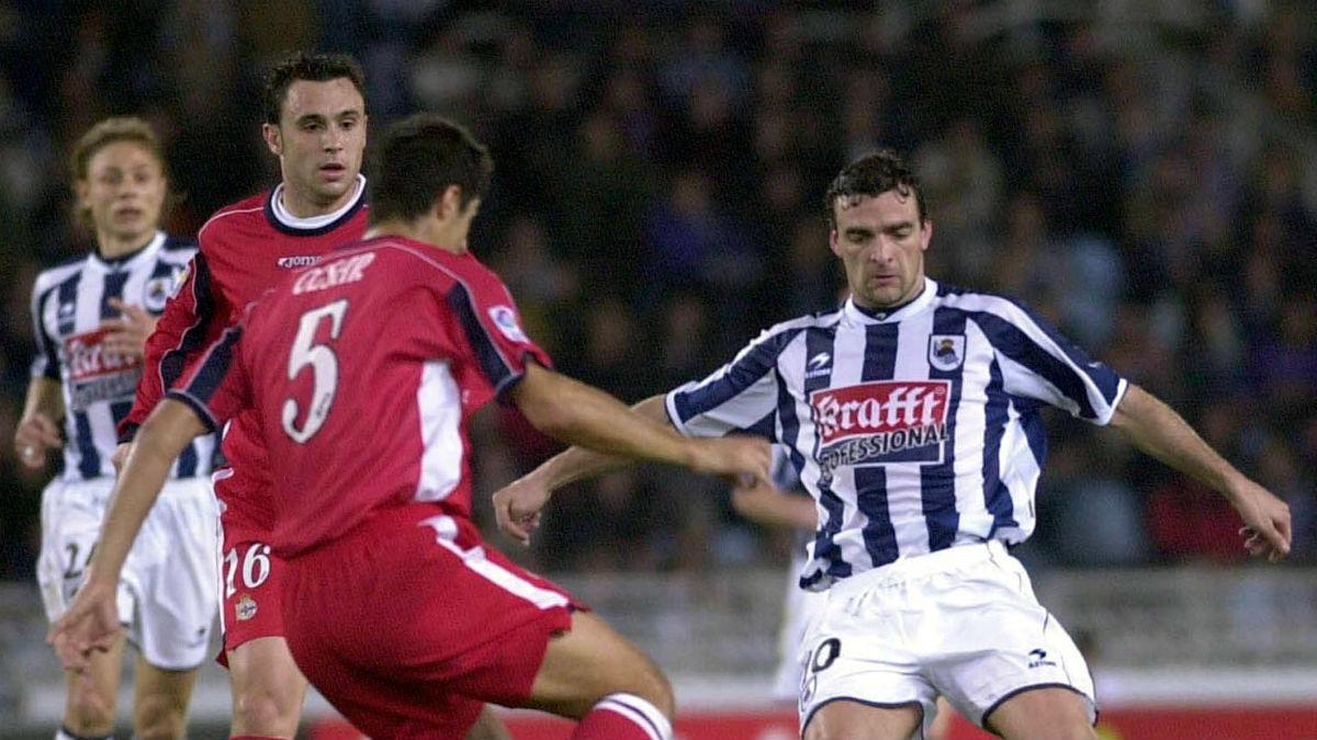 Javier de Pedro durante su etapa como futbolista. (Getty)