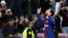 Messi abrió el camino a la victoria del Barcelona. (AFP)
