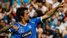 Nacho Novo celebra un gol con el Glasgow Rangers. (Getty)