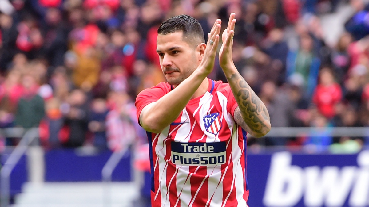 Vítolo, durante su presentación con el Atlético de Madrid (AFP)