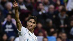 Achraf celebra un gol con el Real Madrid. (AFP)