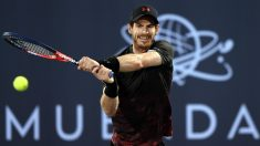Andy Murray, en el torneo de Abu Dabi. (Getty)