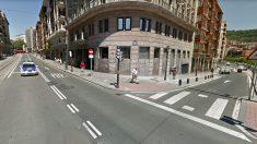 Confluencia de las calles Ripa y Navarra en Bilbao, donde se produjo el suceso.