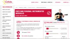 Página web de Cofidis.