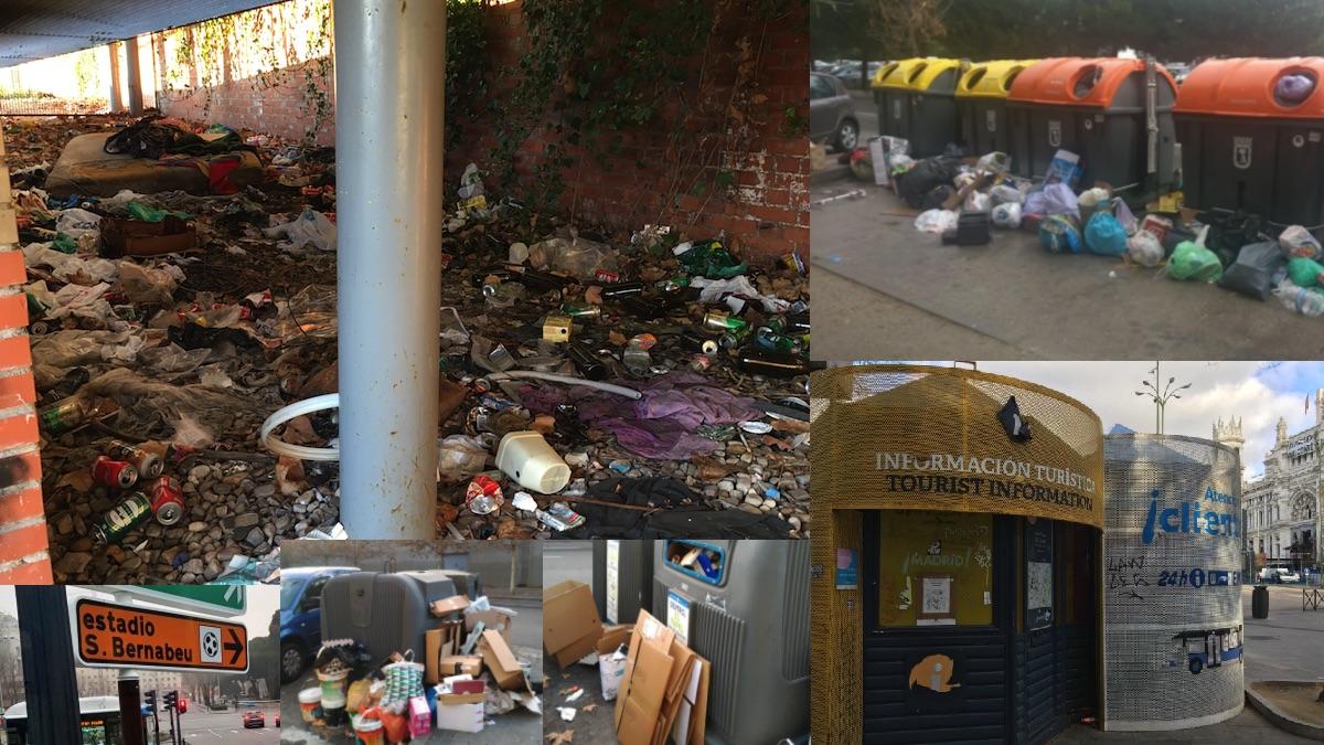 Alguno de los puntos más degradados de Madrid. (Fotos: OKDIARIO / TW)