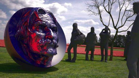 Recreación de cómo será la escultura en el campus de la Complutense.