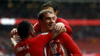 Antoine Griezmann celebra su gol ante el Getafe. (AFP)