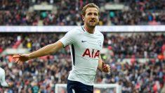Harry Kane, celebrando un gol con el Tottenham (Getty)