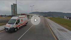 Entrada al Hospital Universitario Central de Asturias, en Oviedo.