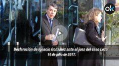 Declaración de Ignacio González ante el juez del caso Lezo. 19 de julio de 2017.