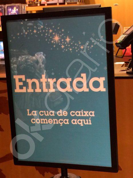 La mayor tienda de Disney en España sólo rotula en catalán