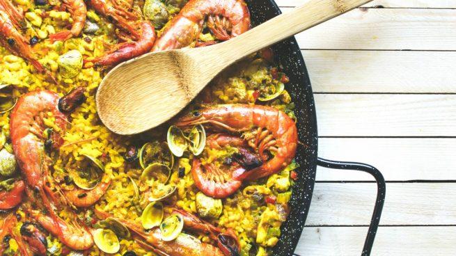 Paella de marisco dieta