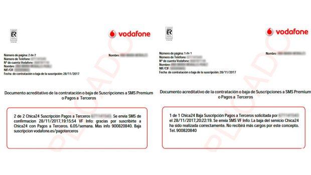 Un indignado cliente denuncia que Vodafone le ha cobrado por las nueve suscripciones que ha dado de baja
