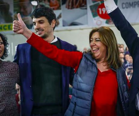 El exsocialista Dante Pérez con Susana Díaz